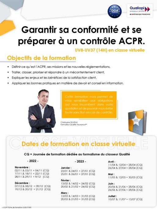 UV 8 : Connaître les principes généraux de satisfaction client et la nouvelle réglementation ACPR