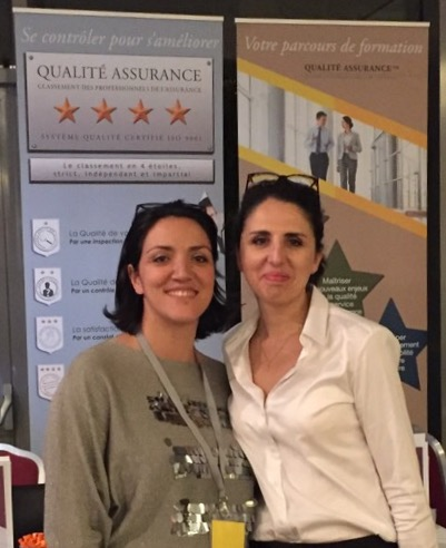 Mme Dorra HAMMAMI et Mme Nadia BOUDJEMA (Secrétaire Générale adjointe TRIANGL')