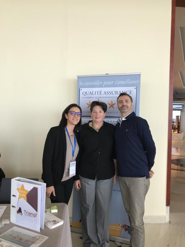 De Gauche à Droite, Mme Dorra HAMMAMI, Mme Anne GARDINI et Mr Joël FERRANDI