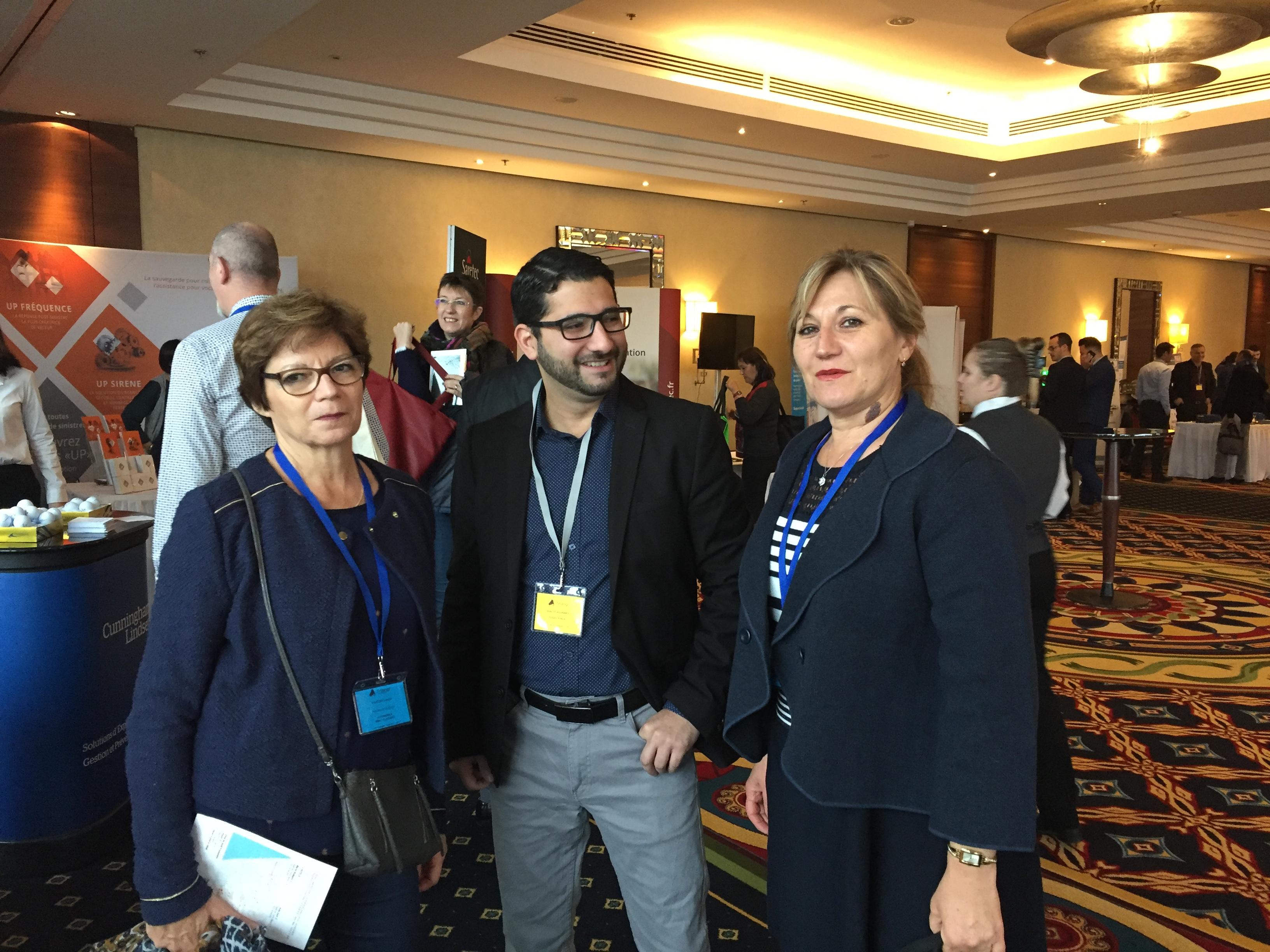 De gauche à droite : Mme Colette PALLICIEN, Mr Hussein KHALIL, Mme Edith REYNIER