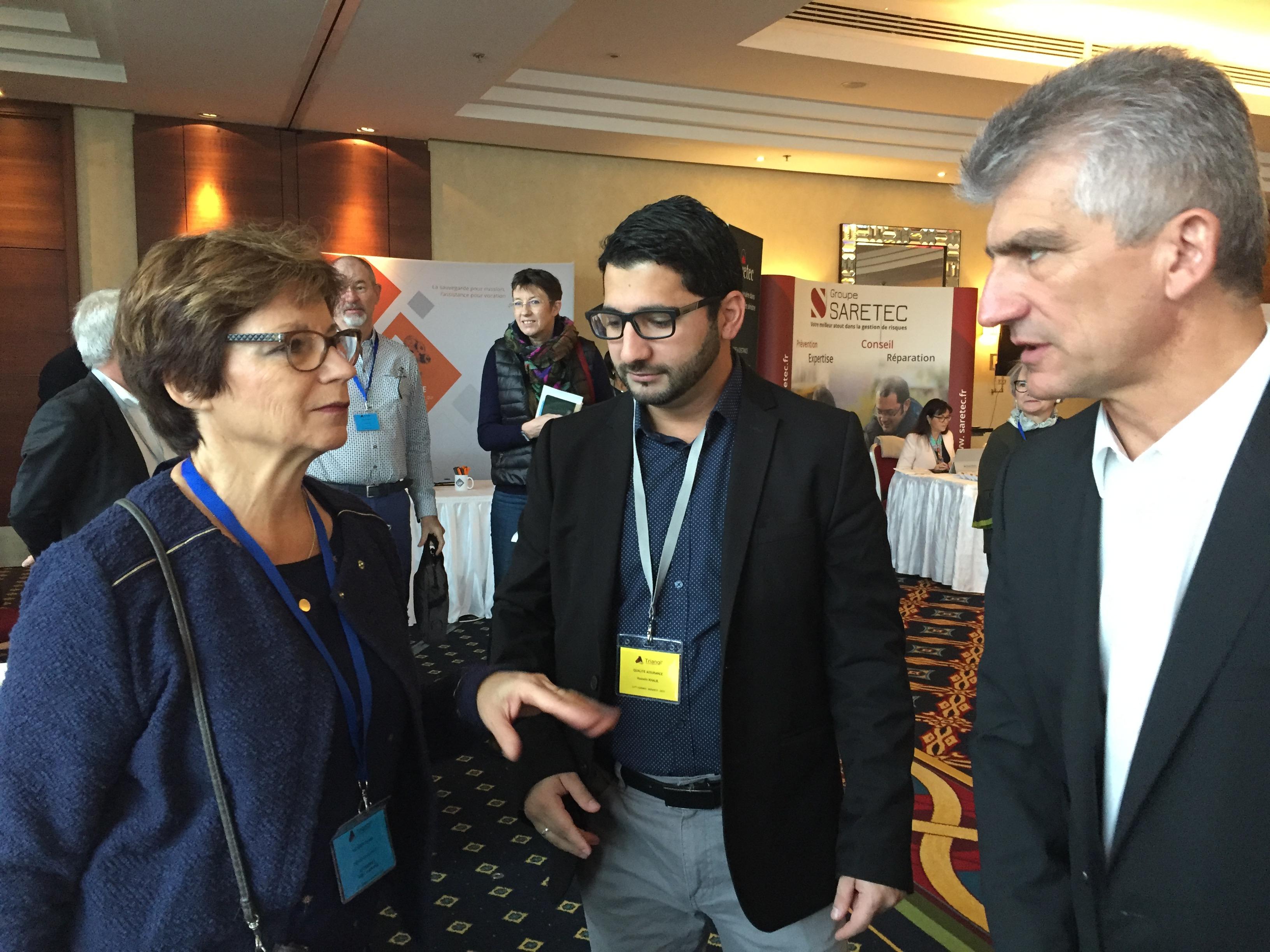 De gauche à droite : Mme Colette PALLICIEN, Mr Hussein KHALIL, Mr Jean-Marc SEGUI (Vice-Président TRIANGL')