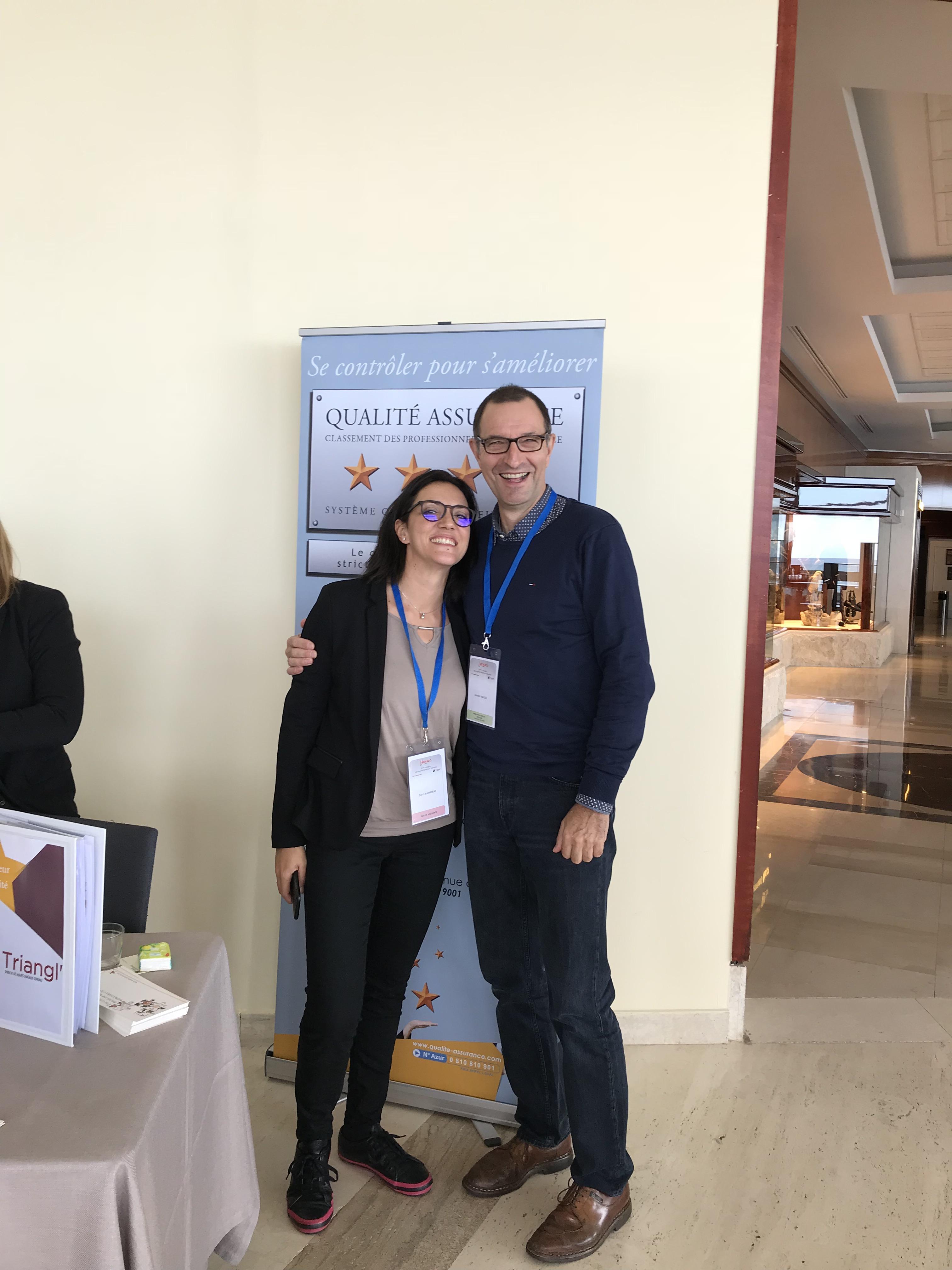 Mme Dorra HAMMAMI et Mr Laurent HALLEZ (président de région Bretagne)